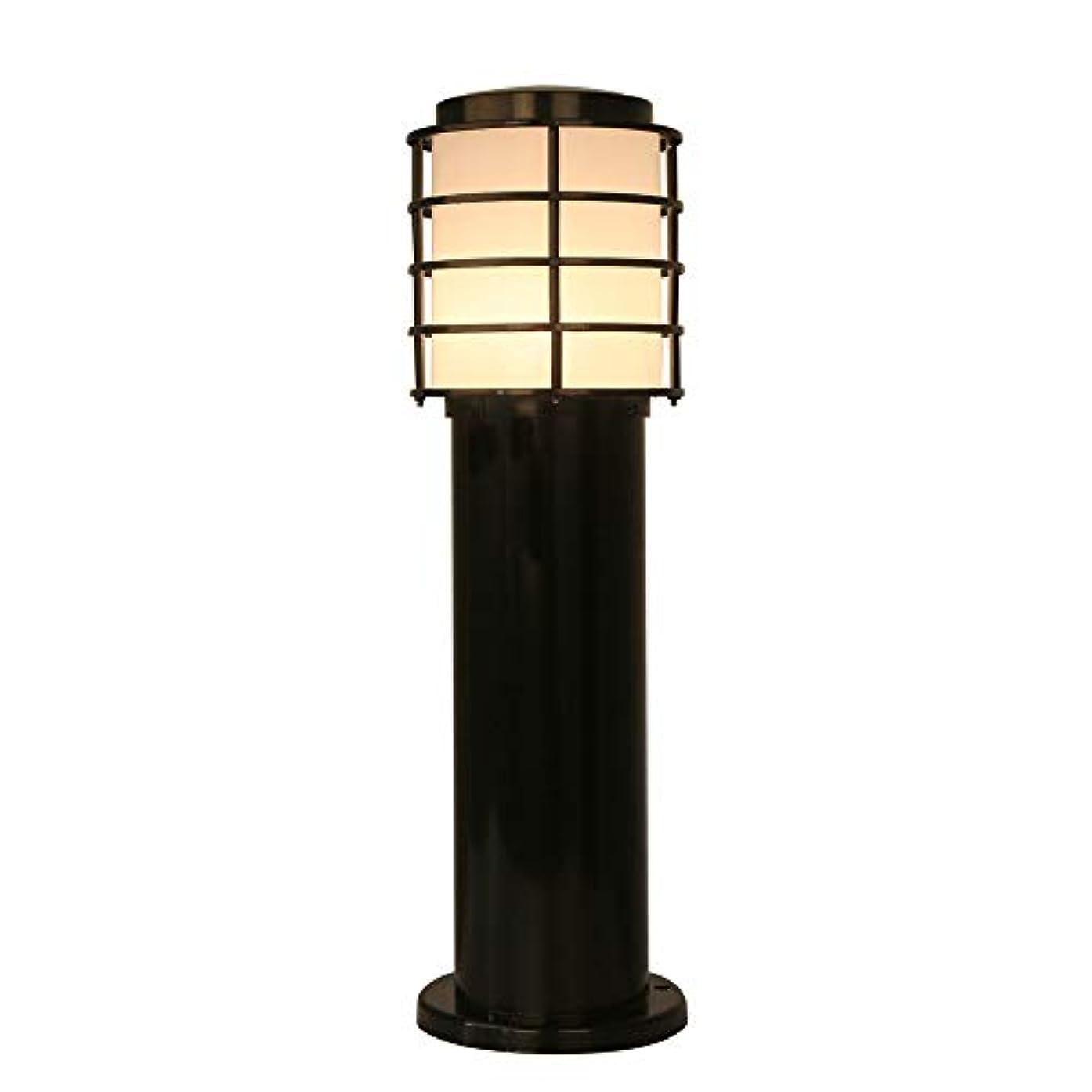 あいまいジョージハンブリー怒ってPinjeer E27ブラック超明るい防水屋外コラムライト現代のシンプルな金属アルミアクリルポストライトガーデン芝生風景ストリート装飾的な柱ライト