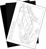 トヨタ(TOYOTA) スープラ JZA70の切り紙用【型紙】と切り紙用紙2枚のセット(3)