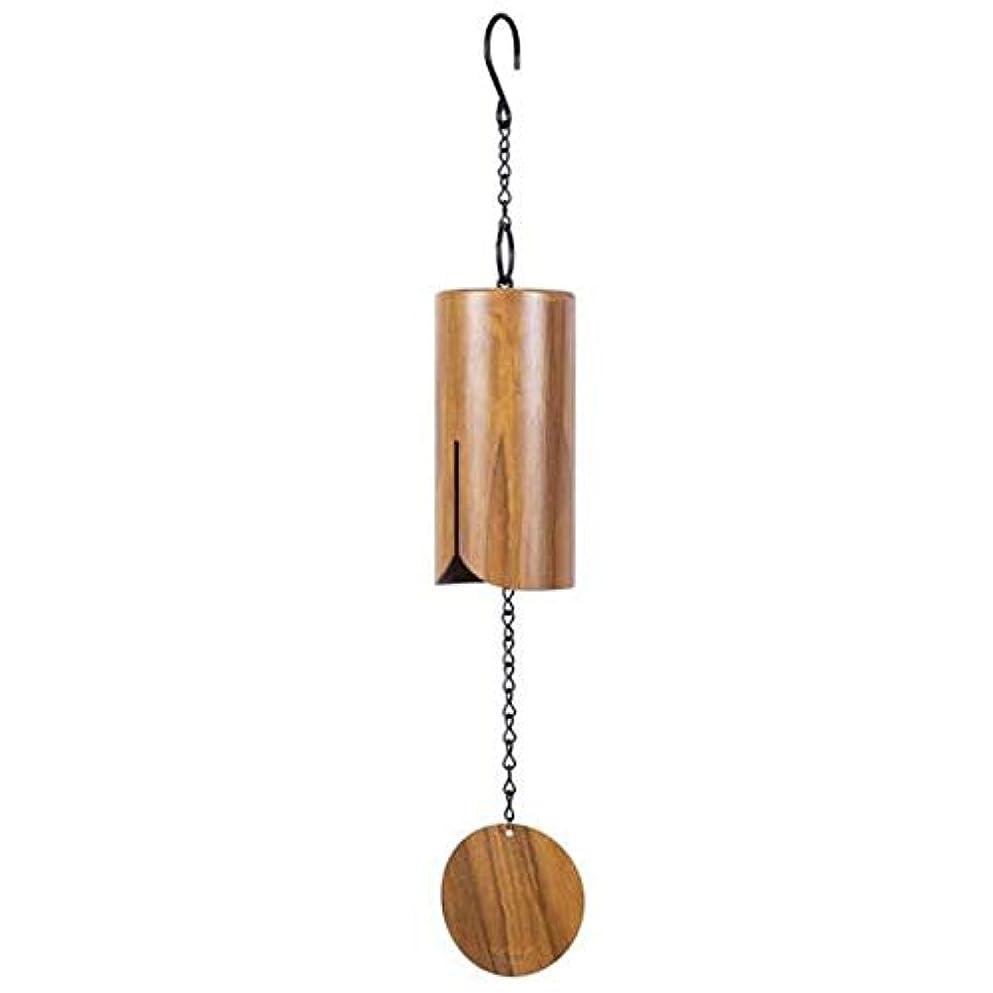後継モノグラフアトムAishanghuayi 風チャイム、アイアンレトロクリエイティブ風の鐘、ブラック、全身について76センチメートル,ファッションオーナメント (Color : Brown)
