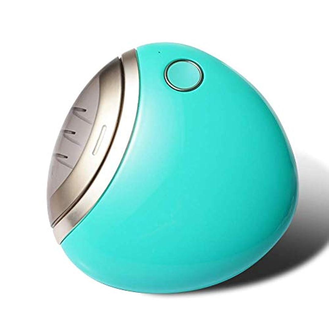 同一性裁量葉っぱmarise 電動爪切り 自動爪切り USB充電付き 男女兼用 ネイルケア (グリーン)