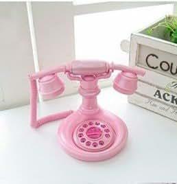 アンティーク調  欧風 ピンクの ロマンチックな 電話機 オシャレな 姫系 インテリア お店の 装飾などに