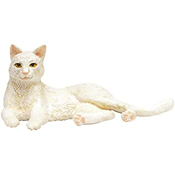 プラッツ 1/12 和ねこ 白猫 (寝そべり) 彩色済み動物フィギュア WNK-4