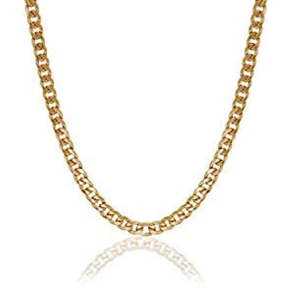 小さいごちそう溶かすCoiTek(コイテーク) スクリューチェーン ネックレス ゴールド 18k ヒップポップ ステンレス メッキ メンズ 幅7mm 60cm