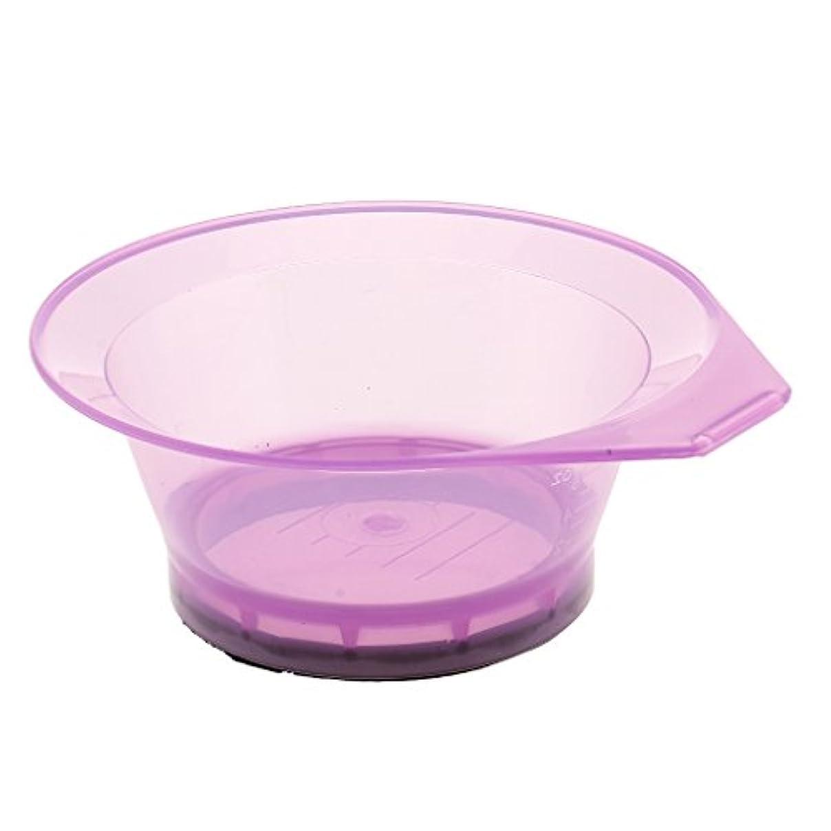 同じ代理店表面プラスチックサロン美容ヘアカラーリング色素ティントブリーチミキシングボウル - 紫