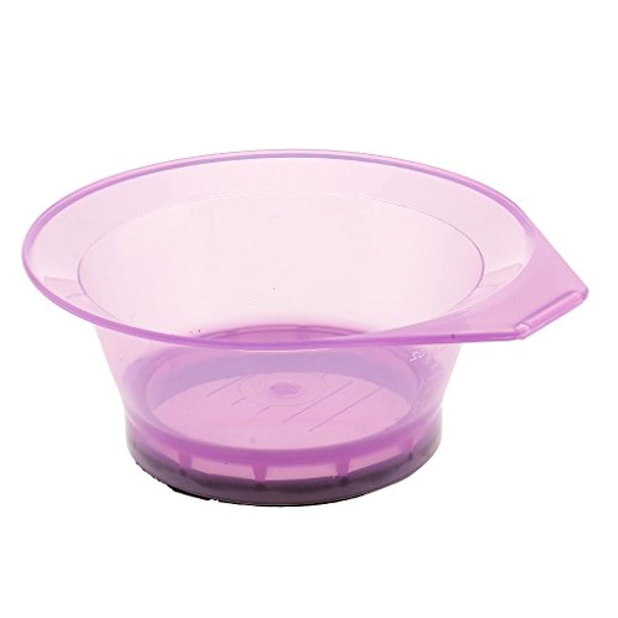 余韻生活自分のためにプラスチックサロン美容ヘアカラーリング色素ティントブリーチミキシングボウル - 紫