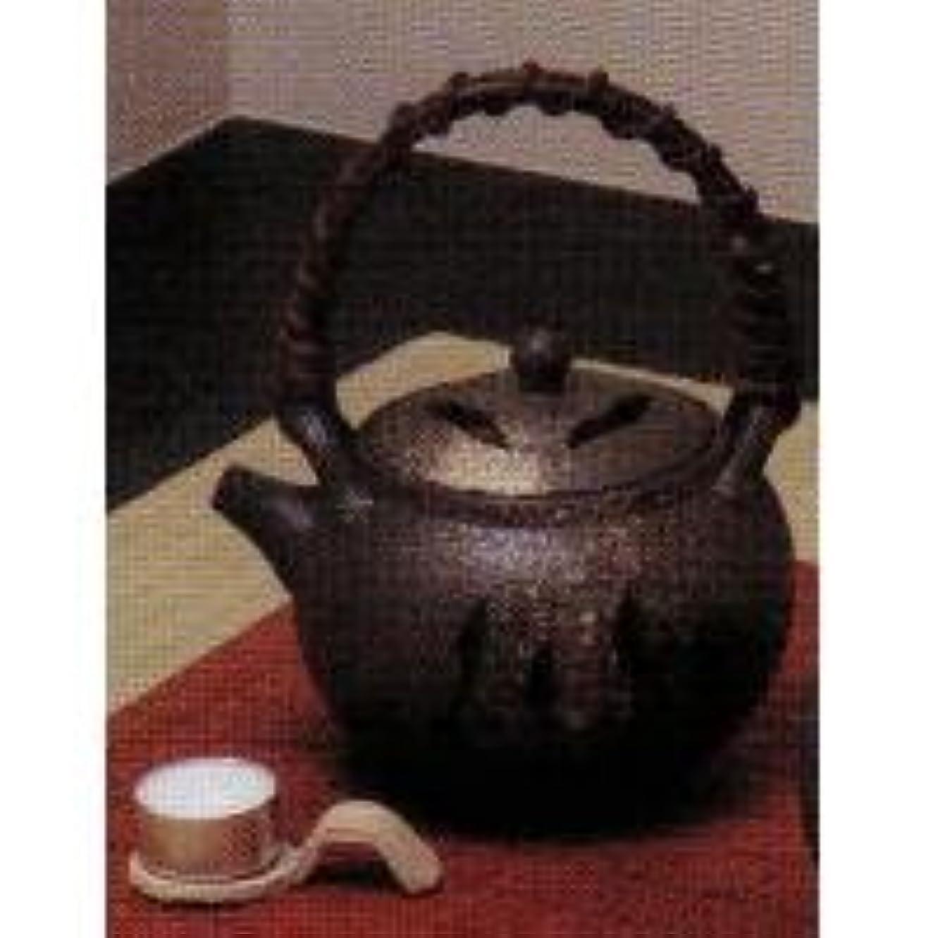 節約する革新承認するSS-P6099-01 白窯肌土瓶型茶香炉(板付)