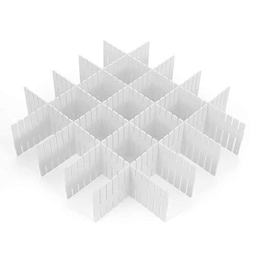 引き出し仕切り 仕切り板 分類ストレージ 自由に組み合わせ 8枚セット (白)