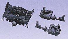Nゲージ関連用品 密連TNカプラー (6個・BM伸縮式・黒・トイレタンクL/R付) 0333