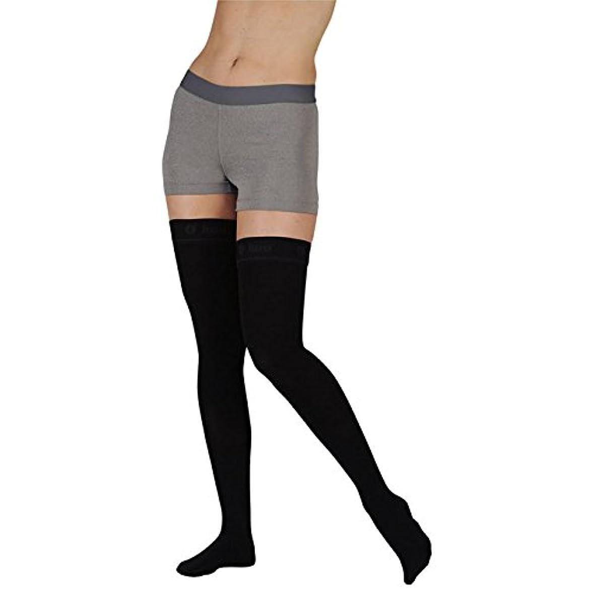 制限休戦公爵Juzo Soft Thigh High With Silicone Dot Band 30-40mmHg Open Toe, IV, Beige by Juzo
