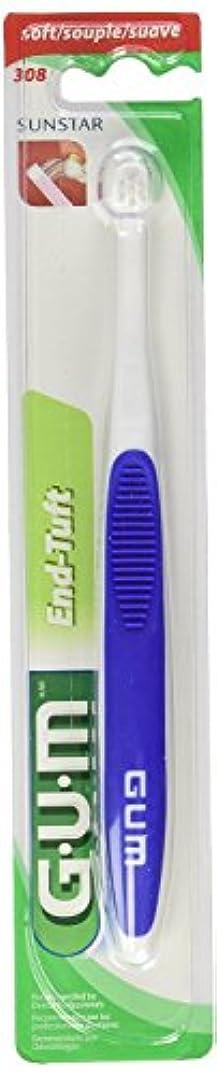 バルセロナ着陸テレビ海外直送肘 Gum End-Tuft Brush Soft, Soft 1 each