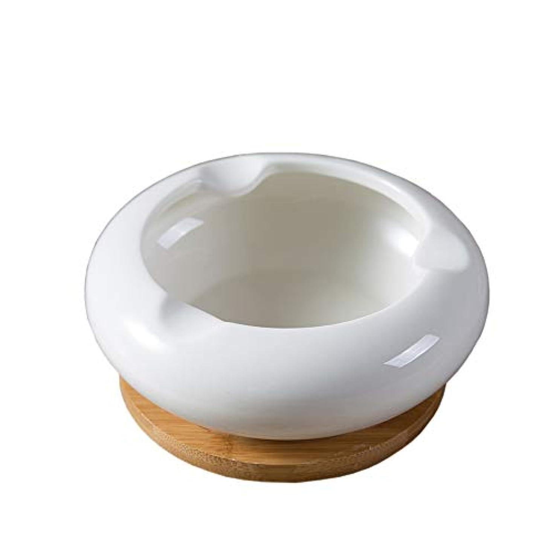 要件補充日セラミック灰皿、シンプルで繊細なデスクトップデコレーション灰皿、日本のシンプルな竹マット付き灰皿 (Size : M)