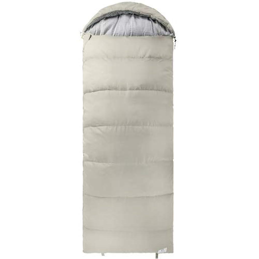 銅書き出すキー[クイックキャンプ] 枕付き シングルサイズシュラフ グレー