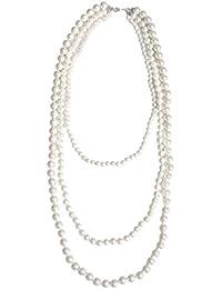 [コウエイストア]koeistore パールネックレス 真珠 3連 5mm 10mm フォーマル 結婚式 入学式 卒業式 パーティー レディース ホワイト AP30-wh