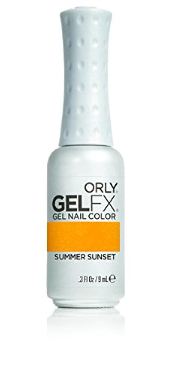ボード時間厳守砂利Orly GelFX Gel Polish - Summer Sunset - 0.3oz/9ml