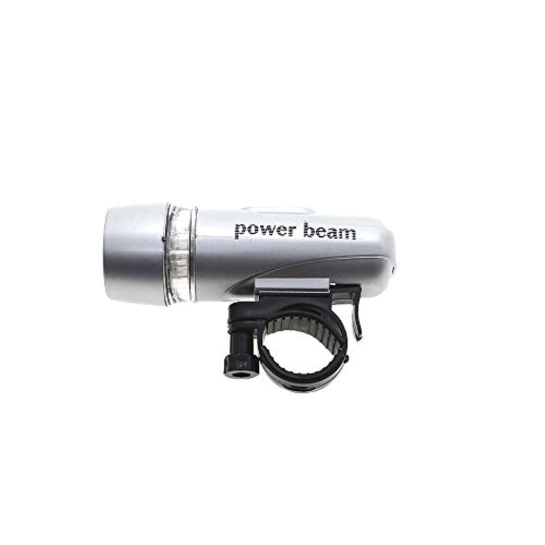 5 LED バイク 自転車サイクリング 防水  フロント懐中電灯  簡単取り付け シルバー