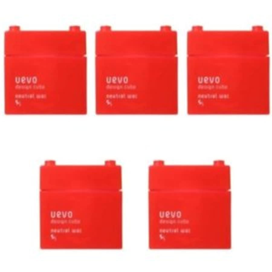 【X5個セット】 デミ ウェーボ デザインキューブ ニュートラルワックス 80g neutral wax DEMI uevo design cube