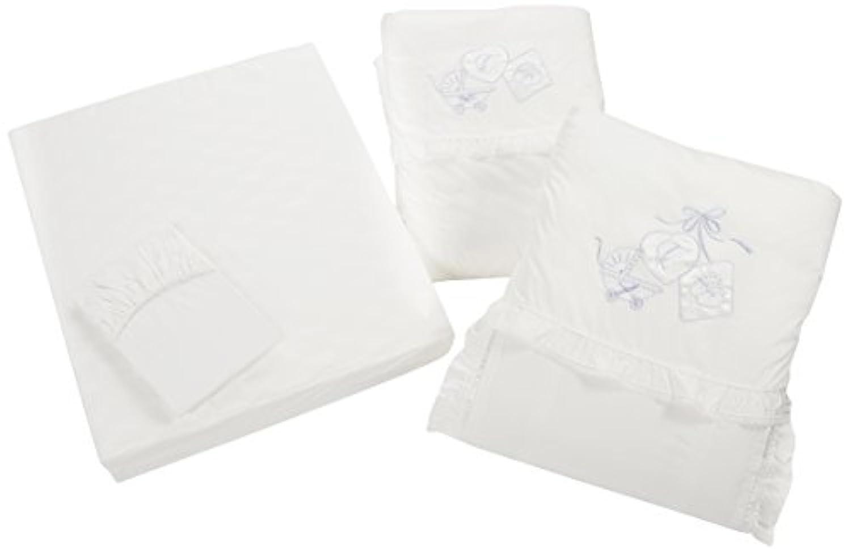 東京西川 ベビーパフエレガントシリーズ ポリエステルカバーリング組ふとん 防ダニ加工 ホワイト LRA5001520-W