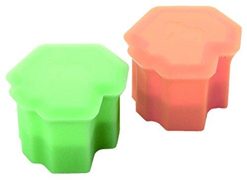 Monos 製氷器 家庭用 サバンナアイス 2個セット グリーン&オレンジ MOSI-EG