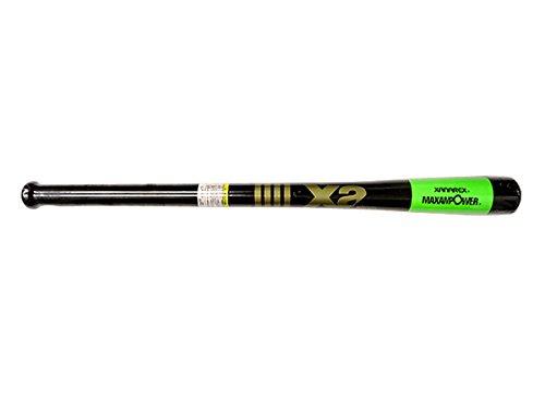 ザナックス 竹 トレーニング バット (超極太グリップ) BTB-1006 ブラック×ライムグリーン(9086) 84cm
