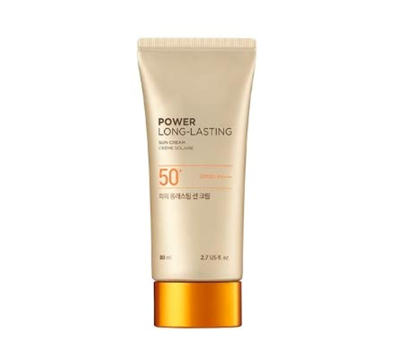親漏れキャンバスThe Face ShopフェイスショップパワーロングラスティングサンクリームSPF50 + PA +++韓国の有名化粧品ブランドの人気日焼け止め皮膚の保護のスキンケアのしわ防止