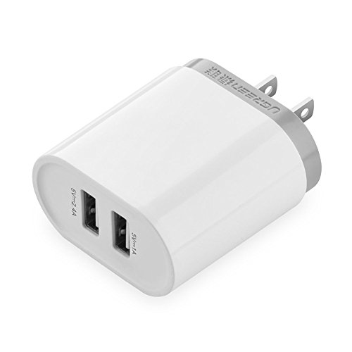 Ugreen USB 充電器 2ポート 3400mA 17W PowerIQ搭載 ホワイト