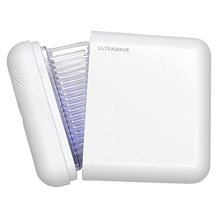 王族ハーブ休眠MEDIK UV-C マスク除菌ケース Ver.2 ULTRAWAVE LED深紫外線で99.9%のマスクの除菌と乾燥 小型 軽量 携帯に最適 ホワイト アクリルスタンド付き MDK-M02