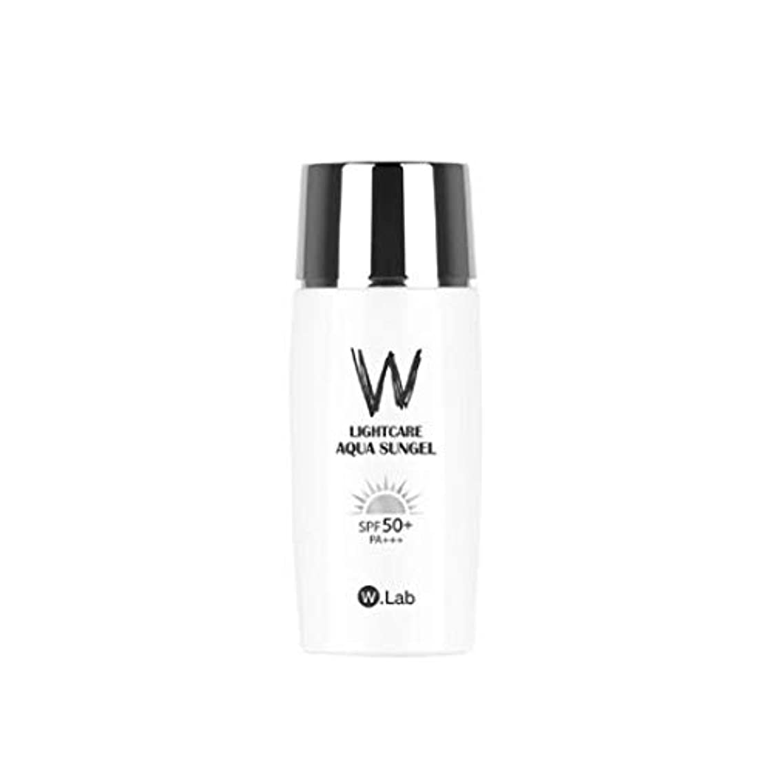 目覚める原始的な不条理W.Lab Light Care Aqua Sun Gel Sunscreen SPF PA+++ 50+ Daily Care Solution SPF 50 PA+++ Face Body Water Resistant UV Protection Sun Screen Cream Hydrated Isolation Cream, 50ML