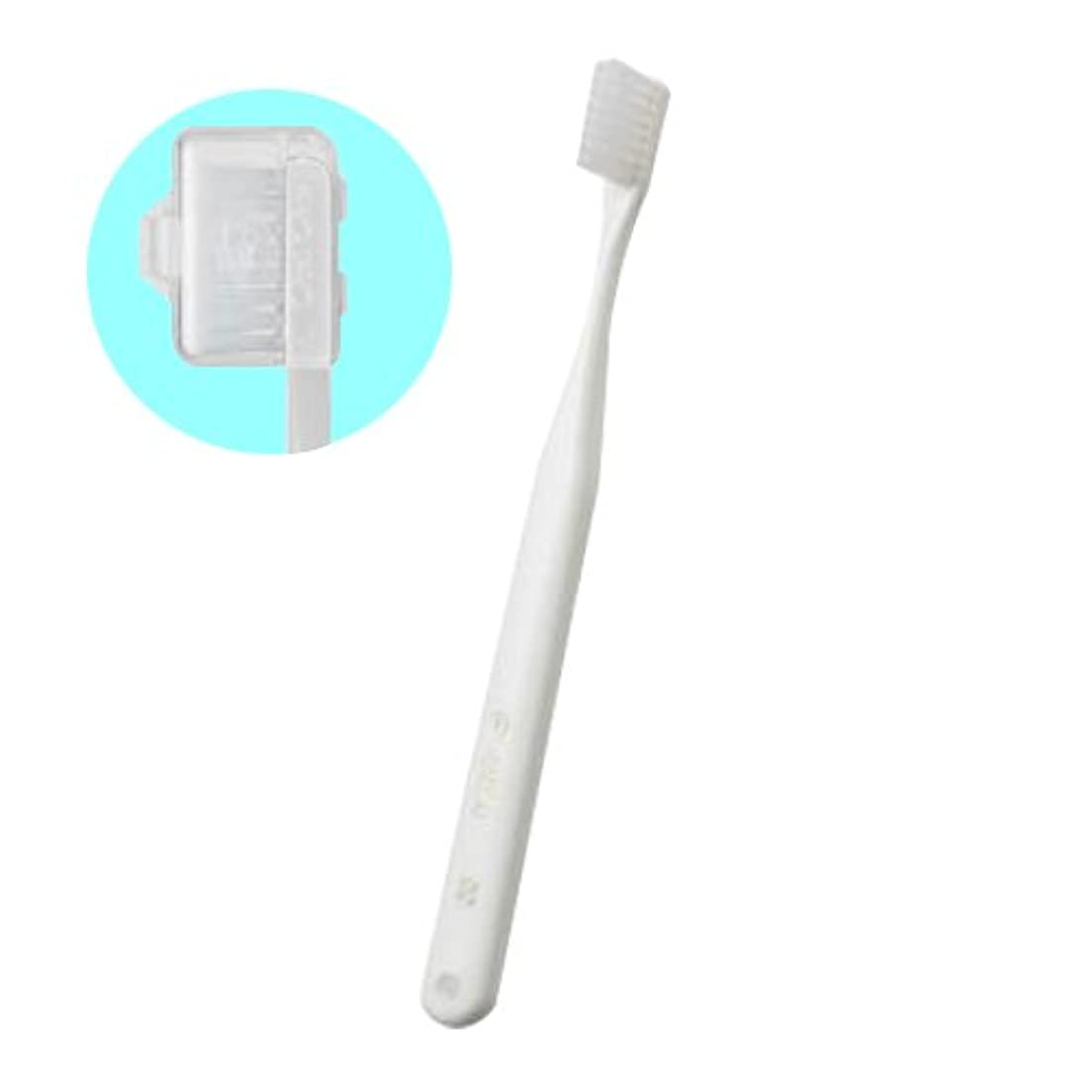 脚本家消化教育オーラルケア キャップ付き タフト 24 歯ブラシ エクストラスーパーソフト 1本 (ホワイト)