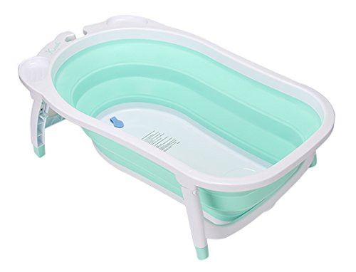 KARIBU カリブ ベビーバス 折り畳み式 バス 赤ちゃん キッズ お風呂 ターコイズ PM3310 KARIBU Folding Bath [並行輸入品]