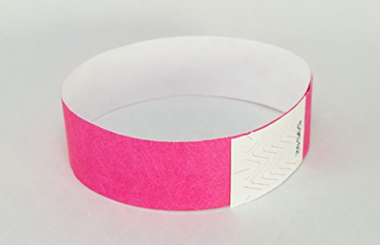 Event Wristband 使い捨てリストバンド(100枚)19mm幅 イベント、フェス、ライブ、クラブ、ビーチイベントの人数カウント,再入場管理に