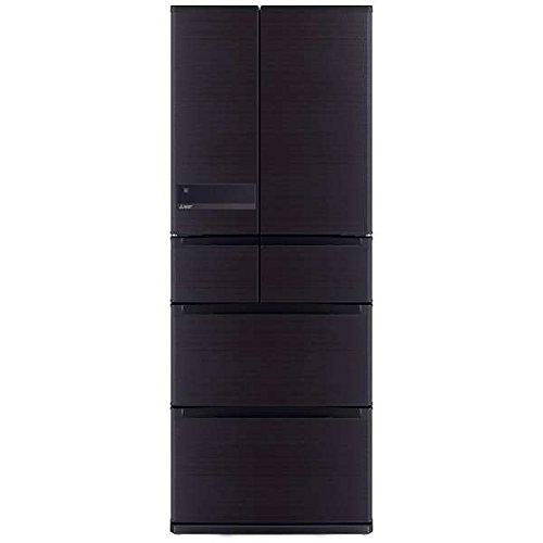 三菱 470L 6ドア冷蔵庫(ロイヤルウッド)MITSUBISHI 置けるスマート大容量 切れちゃう瞬冷凍 MR-JX47LA-RW