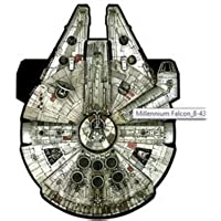WindnSun Star Wars Super Sizedがリップストップ生地ナイロンKite SkyTails ( Millennium Falcon 50