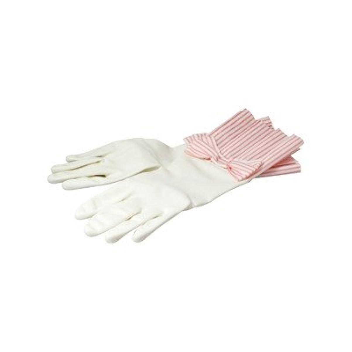 縫う平衡オンスラブグローブ ピンクストライプ