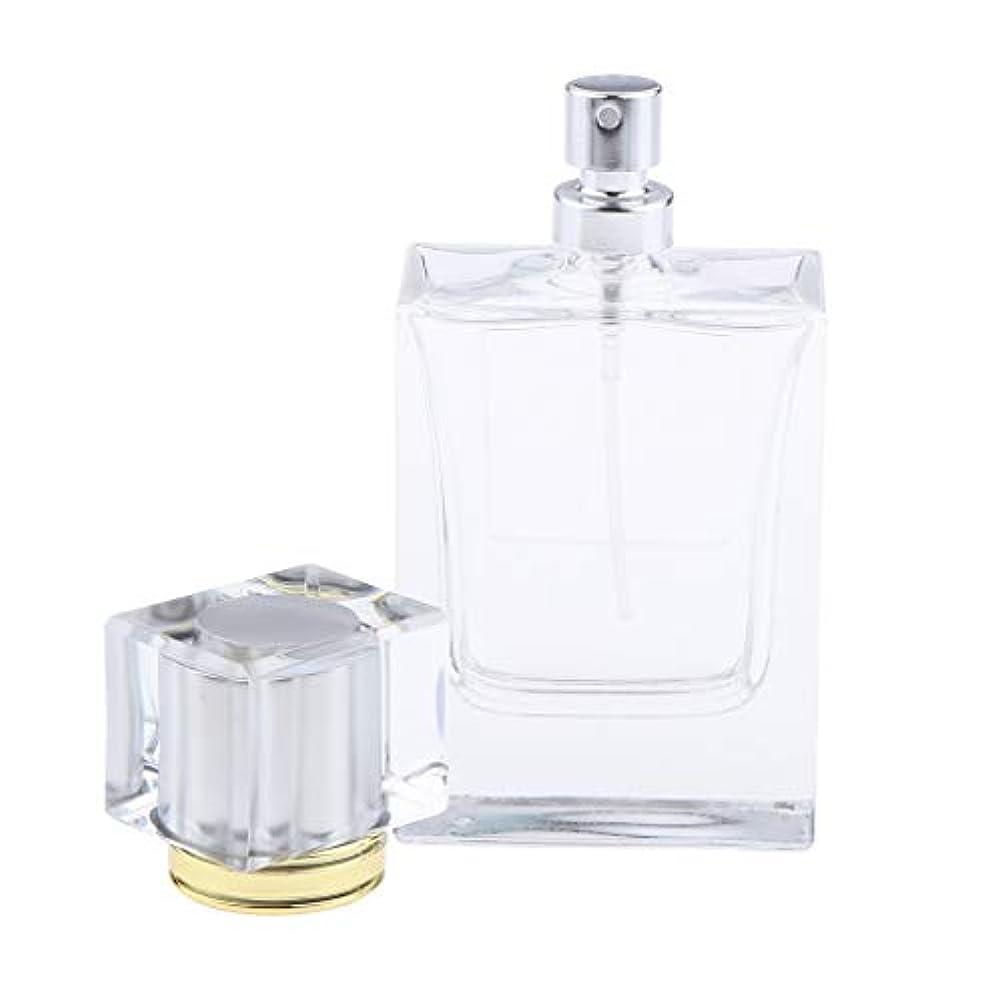 地域の努力レシピ香水瓶 化粧ボトル 透明ガラス ポンプスプレーボトル 手作りコスメ 4色選べ - シルバー