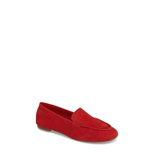 セイシェルズ シューズ パンプス Seychelles Exploring Loafer Flat (Women) Red Suede [並行輸入品]