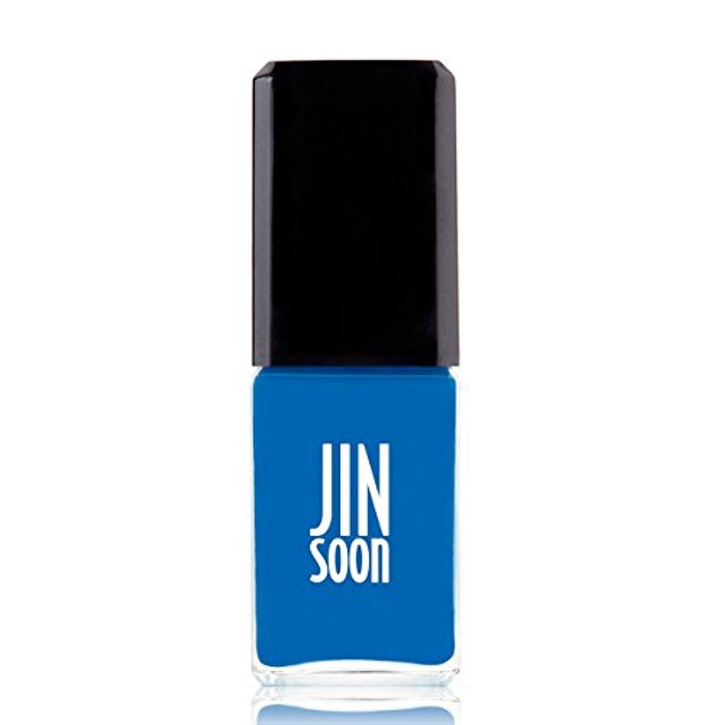 横向き分散小人[ジンスーン] [ jinsoon] クールブルー (セルリアンブルー)COOL BLUE ジンスーン 5フリー ネイルポリッシュ【ブルー】 11mL