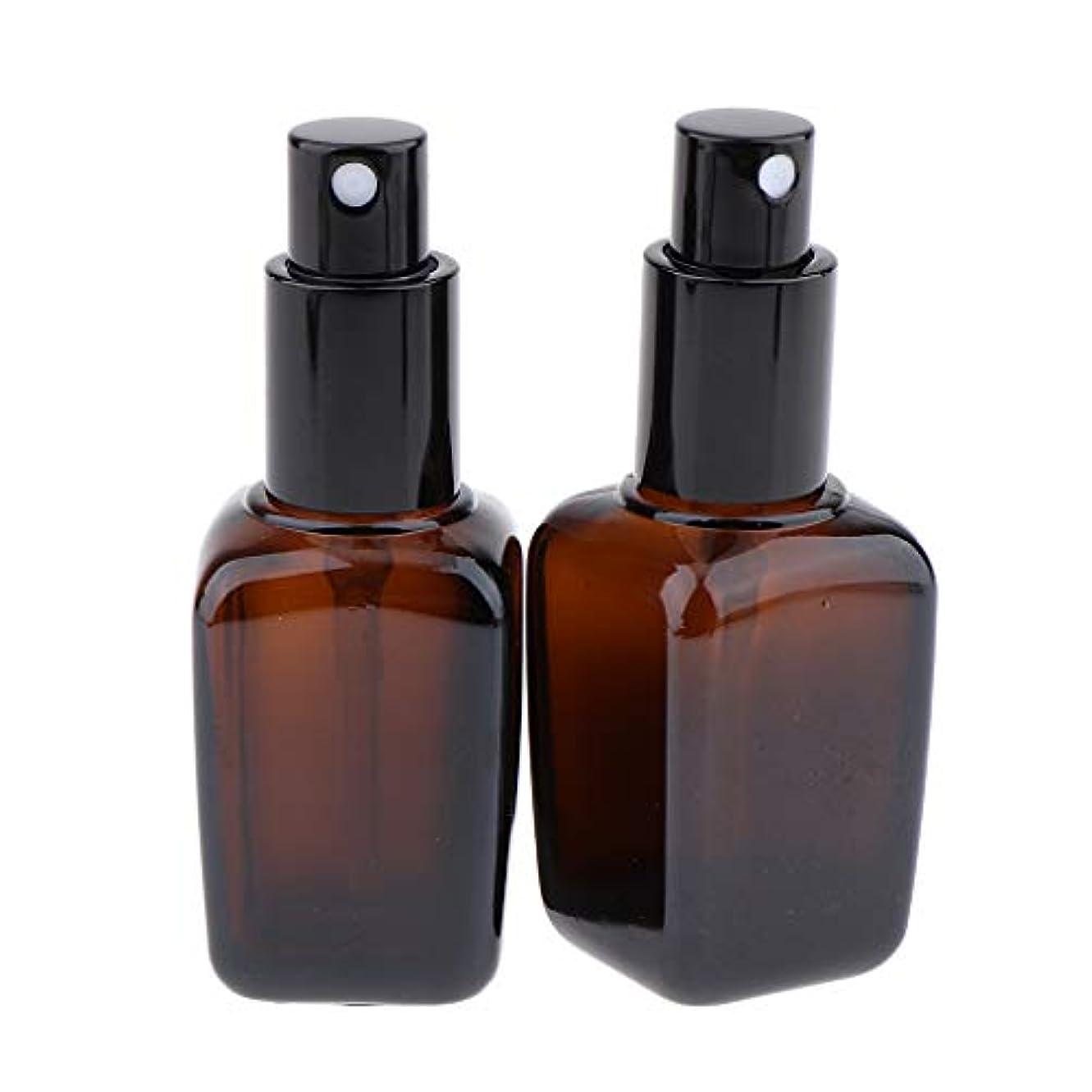 額シエスタ部分的2本 スプレーボトル ガラス ポンプボトル 漏れ防止 香水ボトル 5サイズ選べ - 30ml