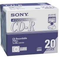 SONY データ用CD?R 700MB 48倍速 ホワイトプリンタブル 5mmスリムケース 1パック