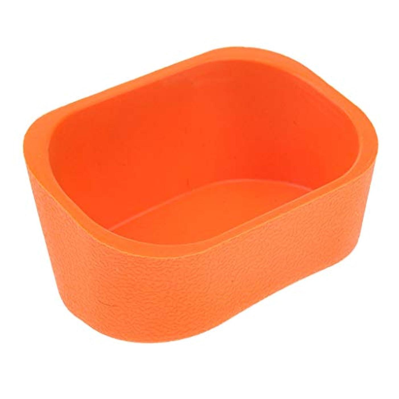 リスポジション気性Hellery 大広間の毛のためのシリコーンのシャンプーボールの首の残りの枕パッドは流しを洗います - オレンジ
