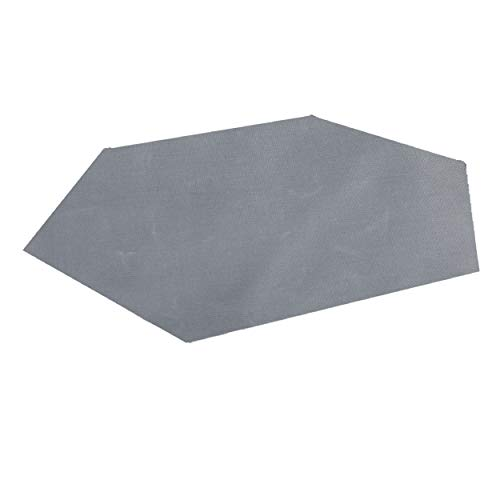 TRIWONDER 六角形 タープ 防水 サンシェード キャンプ シェルター テント タープ フットプリント ピクニック マット ハンモック用 天幕 (グレー - XL)