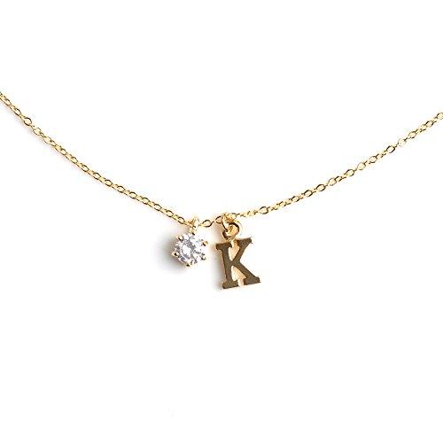 [クリームドット]cream dot アジャスターも可愛いイニシャルネックレス K:ゴールド×ワンサイズ