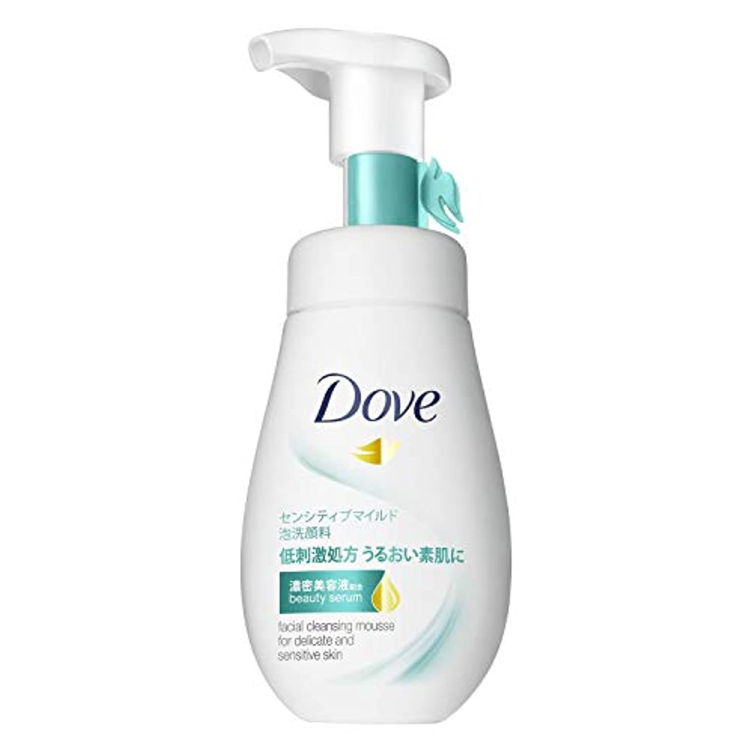 持つリマ回るダヴ センシティブマイルド クリーミー泡洗顔料 敏感肌用 160mL