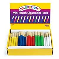Colorations mini-brush Classroomパック–セットof 60( Item # Minibru )