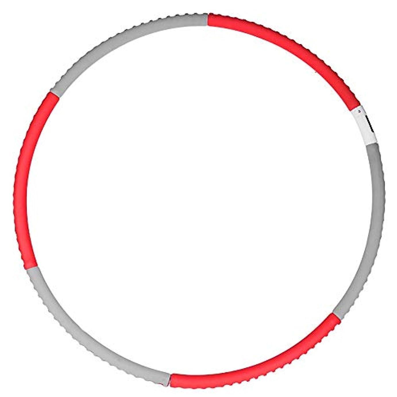 反対に人形軽蔑フラフープ ホームで増加スマートフラフープカウントおなかベリー美しいウエスト細い腰アーティファクト女性ホーム減量 運動用 (Color : Red gray, Size : 91cm)
