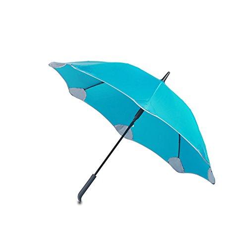 Obolts 長傘 高級傘 超耐風テフロン撥水加工 ゴルフ 耐風傘 自動開けJ型手元 大型軽量 ビジネス用紳士傘 ブルー