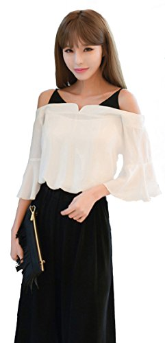 [해외](미니마리) minimali 설치 고급 도킹 어깨 사정 프릴 블라우스 리브 와이드 팬츠 모노톤 투피스/(Minimari) minimali setup elegant docking shoulder out ruffle blouse rib wide pants black and white two-piece