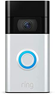 All-new Ring Video Doorbell – Ring's #1 selling video doorbell – Satin Nickel – 2020 rel