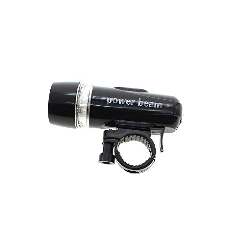 復讐楽な文5 LED バイク 自転車サイクリング 防水  フロント懐中電灯  簡単取り付け ブラック