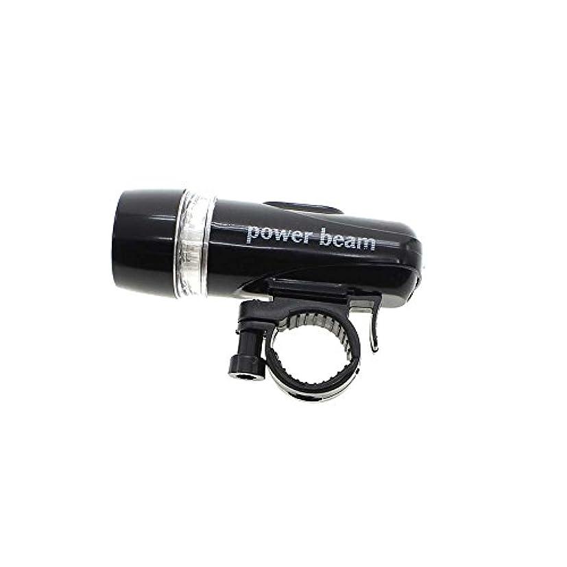 警告する機知に富んだファーザーファージュ5 LED バイク 自転車サイクリング 防水  フロント懐中電灯  簡単取り付け ブラック