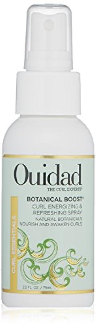 里親スムーズに散髪Ouidad OUIDAD植物はカールエナ&リフレッシュスプレー、2.5液量オンスを後押し 2.5オンス